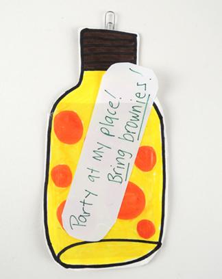 message bottle construction