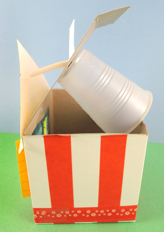 plastic cup attached to house