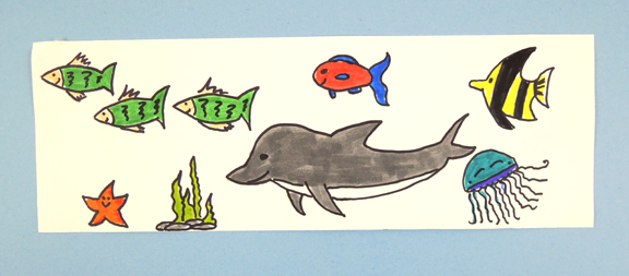 strip of ocean critters