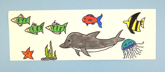 strip of ocean critters