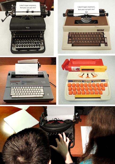 typewriter montage